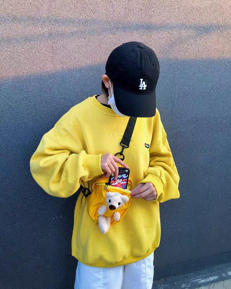 《3色》クマポーチ付きクマパッチトレーナーの画像7