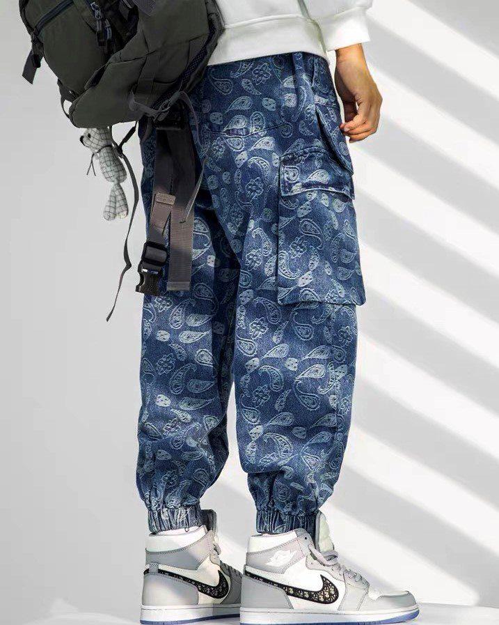 ペイズリーデニムカーゴジョガーパンツの画像6