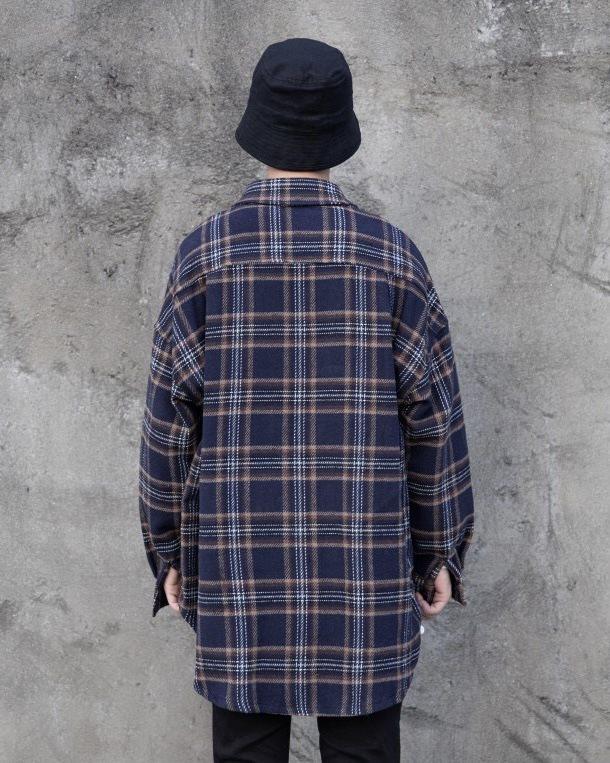 ロングテールフランネルチェック長袖シャツの画像6