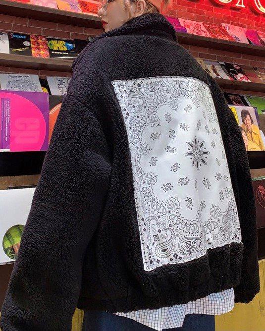 《2色》バンダナバックボアジャケットの画像4