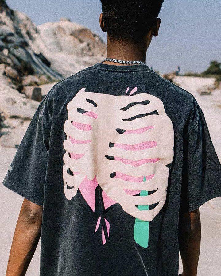 スカルハートTシャツの画像2