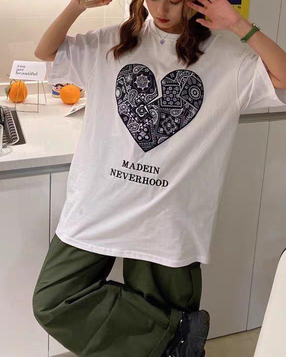 《3色》ペイズリーハートTシャツの画像5