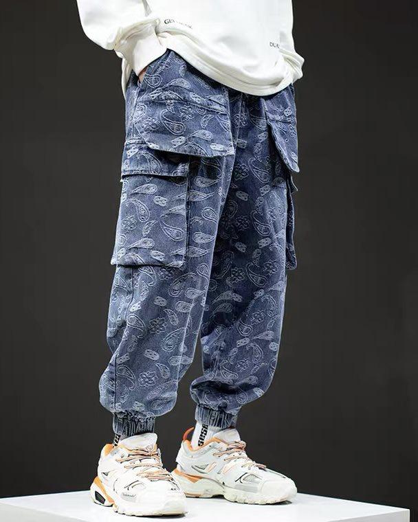 ペイズリーデニムカーゴジョガーパンツの画像4