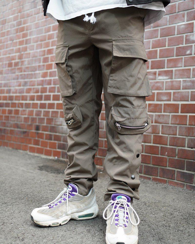 《2色》ビッグポケットサイドスナップカーゴジョガーパンツの画像5