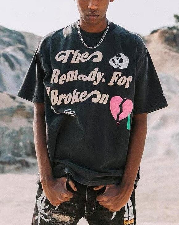 スカルハートTシャツの画像1