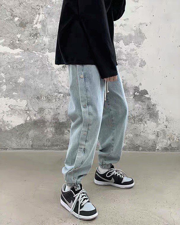 《2色》サイドスナップデニムジョガーパンツ(小さいサイズ)の画像4