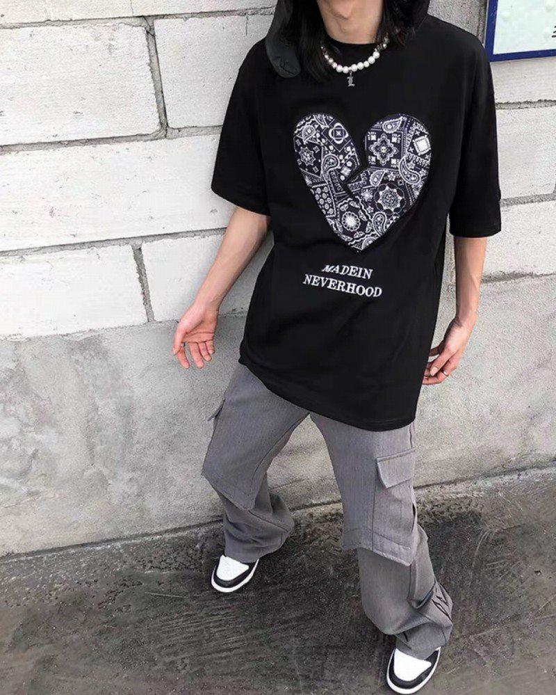 《3色》ペイズリーハートTシャツの画像4