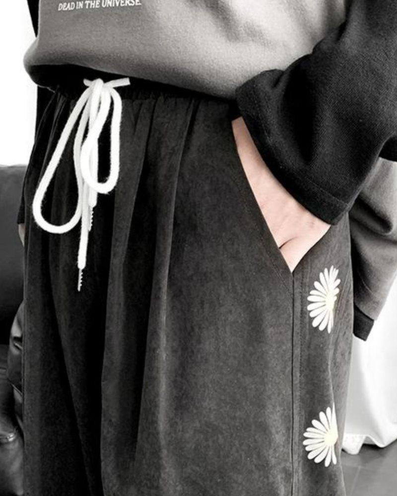 《2色》デイジーサイドラインジョガーパンツ(小さいサイズ)の画像6